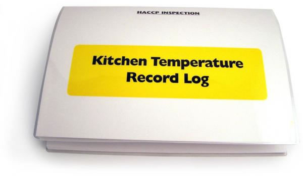 Kitchen Temperature Record Log
